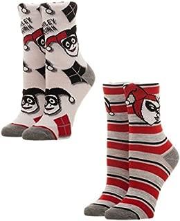 Harley Quinn Juniors 2 Pack Crew Sock Set Standard