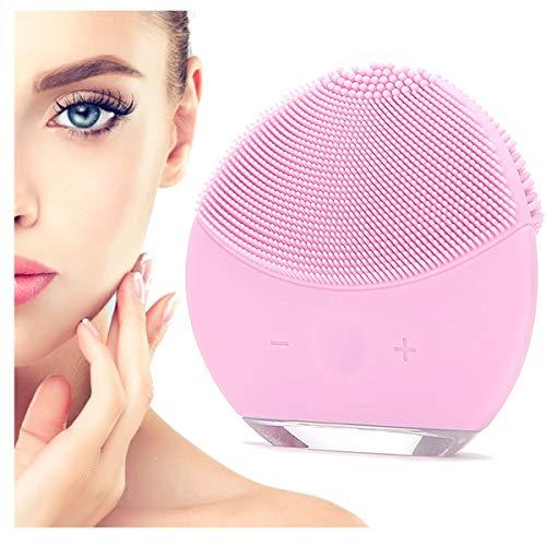 Spazzola Pulizia Viso Elettrica 2a Generazione Impermeabile in Silicone Massaggiatore Viso Skin Care Bellezza Viso Massaggio Esfoliante Antirughe Pulisce Sotto Pelle Scrub Viso Occhiaie (Rosa)