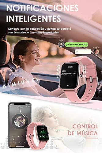 AIMIUVEI Smartwatch, Reloj Inteligente IP67 con Pulsómetro, Presión Arterial, 7 Modos de Deportes y GPS, Monitor de… 8