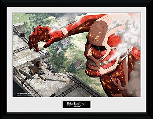 GB Eye LTD, Attack on Titan, Titan, Photographie encadrée 30 x 40 cm
