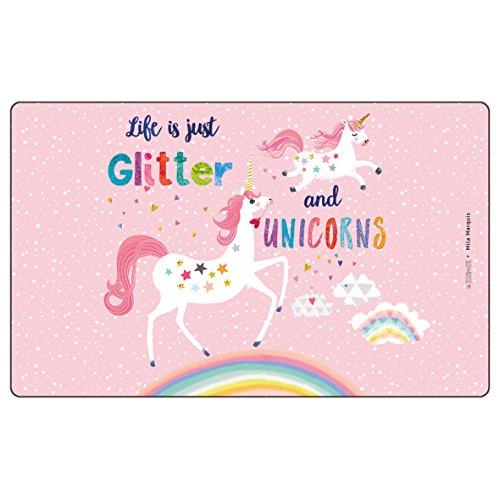 PFIFF Frühstücksbrettchen 'Glitter&Unicorns', rosa, one size