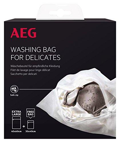 AEG A4WZWB31 - Sacchetto per biancheria per indumenti sensibili, 2 pezzi, dimensioni: 40 x 60 cm e 30 x 40 cm, con cerniera