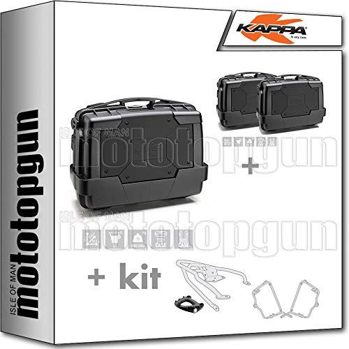 kappa maleta kgr33n + maletas laterales kgr33npack2 + portaequipaje monokey + portamaletas lateral monokey compatible con triumph bonneville t100 2020 20