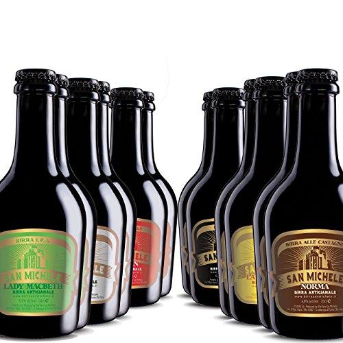 Scatola 12x0,33L - Birra Artigianale San Michele - Selezione assortimento Super Premium 6 diversi stili