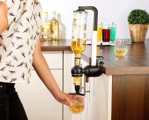 infactory Bar Butler – Flaschenhalter mit Portionierer – 3 cl - 4