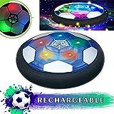 MSHK Air Power De Fútbol Ultraglow, Aire Fútbol para Actividades Interiores O Exteriores con Luz LED Y Música,Regalos De Cumpleaños para Niños