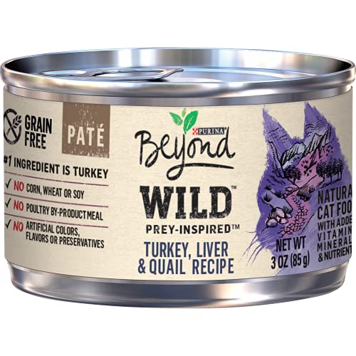 Purina Beyond Grain Free, Natural, High Protein Pate Wet Cat...