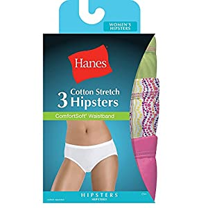 e40c44dbf377 Hanes Women's Cotton Stretch Hipster Panties with ComfortSoft Waistband 3-PackHanes  Women's Cotton Stretch Hipst… 2.8 out of 5 stars7 $16.80$16.80