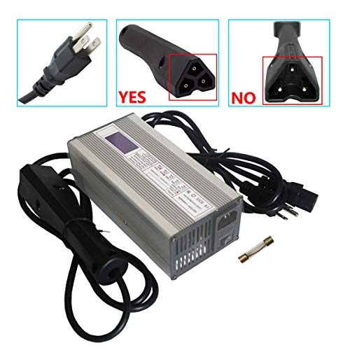 Abakoo 48V 6A RXV Golf Cart Battery Charger for Ez-Go EZgo TXT with RXV Plug 3 Prong LED Display