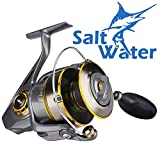 Saltwater Spinning Reel, 61lbs Drag Surf Fishing Reel for Offshore Kayak Fishing Heavy-duty Ocean Boat Jigging Saltwater Reel, Inshore Lightweight Sea Bass Fishing Reel Pair with Surf Rod Combos 5000