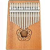 EXTSUD 親指ピアノ カリンバ 17キー kalimba カリンオルガン初心者 入門楽器 操作簡単 スタディガイド トーンハンマー 指スリーブ 収納バッグ付き ナチュラルカラー (スタイルD)