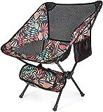 G4Free Silla de campamento portátil mejorada, plegable, compacta, resistente, 220 libras ultraligera para exteriores, camping, viajes, playa, picnic, festival, senderismo (rojo de hoja de arce)
