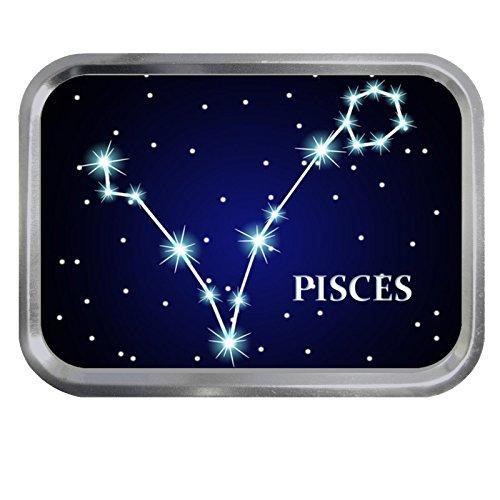 Pisces Constellation Design Galaxie Sternzeichen 57 g Silberdose Tabakaufbewahrung