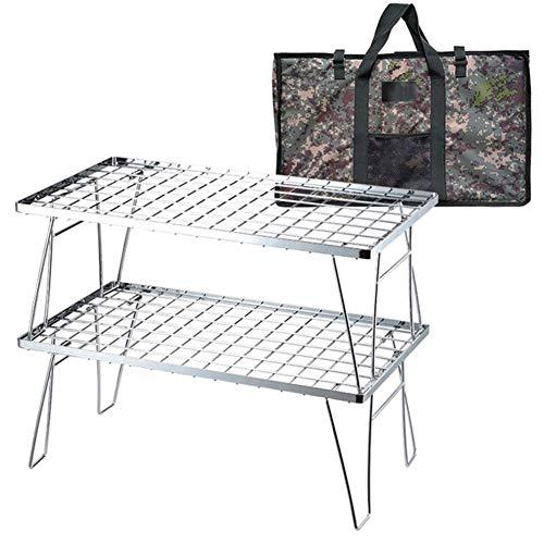 WK Folding Camping Tisch, Picknick-Tisch, beweglicher Edelstahl-Mehrzweck Kleine Folding Schreibtisch mit Aufbewahrungstasche for Garten Innenhof BBQ-Party Angeln lili (Color : C)