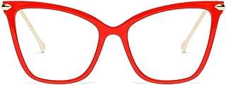 Beison Womens Cat Eye Transparent Frame Mod Sunglasses...