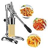 KUNHEWUHUA 30cm French Fries Squeezers Fried Potato Strips Maker Manual Potato Strips Squeezers Stainless steel