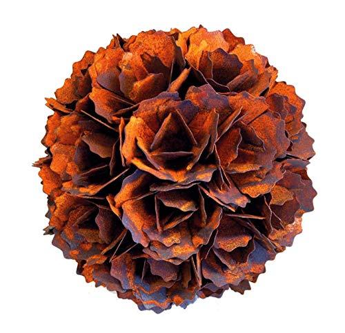 """Edelrost Blume/Blumenkugel """"Pusteblume"""" Kugel Rostkugel 30cm"""