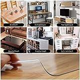 ToPicks PVC Tischdecke Transparent, Tischfolie Durchsichtig Schutztischdecke Abwischbare Tischschutzfolie Abwaschbar Hochglanz Meterware ( ungefähr 90 x 160 cm) - 3