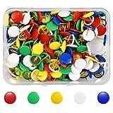 Dokpav 300 Pezzi Multicolori Puntine da Disegno, Creative Puntina da Disegno Colorata, Chiodo in Sughero, Spilli per Lavagna, Puntine Chiodini di Mappa, per Bacheca, Mappa, Ufficio, Lavagne