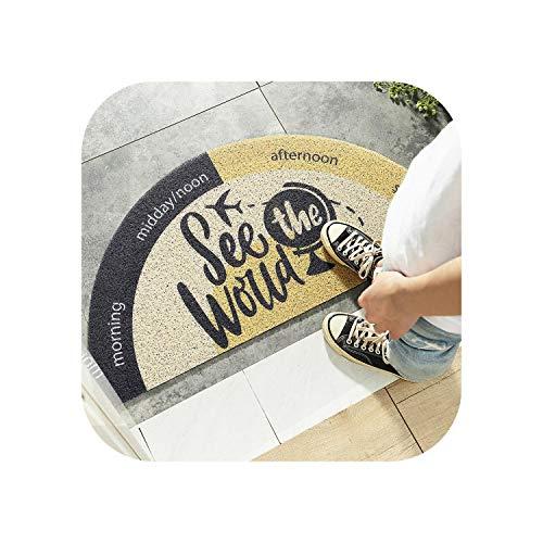 Star Harbor Shapers Grauzone Teppich 8x10  Neue kreative halbrunde Fläche Teppich Anti-Rutsch-Türmatte Regenbogen Sonne Druck Fußmatten Schlafzimmer Teppich Teppiche Eingang -4-45x90cm