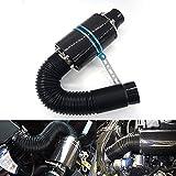 Mesllin Kit de Filtro de Admisión 3' 76mm admisión universal Fibra de carbono Filtro de inducción de aire frío con cartucho de filtro