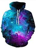 Idgreatim Männer Kapuzenpullover Hoodie Neuheit 3D Gedruckt Galaxy Hoodies Lässige Mode Pullover Mit Kapuze Sweatshirts