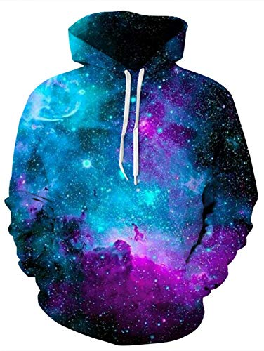 Idgreatim Juniors Kapuzenpullover Hoodie 3D Galaxy Grafik Kapuzenpullis Coole personalisierte Kapuzenpullover