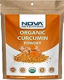 Nova Nutritions Certified Organic Turmeric Curcumin Root Powder 16 OZ (454 gm) - Curcuma Longa (Root)