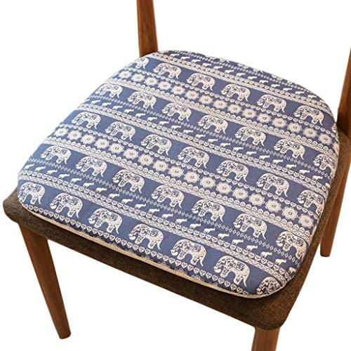 NIL Stuhl Kissen Baumwolle Und Leinen Sitzkissen Küchenstuhl Breathable Anti-Rutsch-Kissen (Color : C)