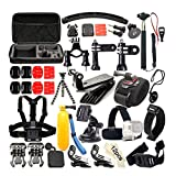Andoer Kit de Accesorios de Montaje de cámara de acción 36 en 1 Compacto con GoPro Hero 4/3 + / 3 SJ4000 SJ5000 SJ6000 SJ7000 Kit de Accesorios de cámara para Deportes al Aire Libre