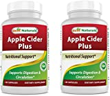 Best Naturals Apple Cider Vinegar Plus 500 Mg 120 Capsules - Vinegar Capsules...