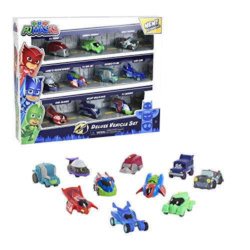 PJ Masks Night Time Micros Deluxe Vehicle Set