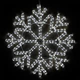 "Wintergreen Lighting LED Snowflake Light Christmas Decorations Outdoor Snowflake Christmas Lights, Christmas Snowflake, LED Rope Light (24"", 40 Point Snowflake, Cool White LED)"