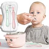 SUPVOX cuenco a prueba de agua cuenco de succi/ón sensible a la temperatura cuchara utensilios beb/é beb/é ni/ño peque/ño 2 juegos