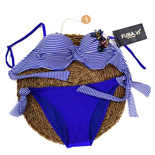 FUBA.VI Conjunto Traje baño Bikini Mujer Traje baño