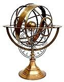 Hanzla Collection Grand globes arméniques entièrement en laiton gravé 45,7 cm