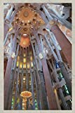 Notebook: Sagrada Familia Inside Chic Composition Book Daily Journal Notepad Diary Vintage Retro Poster style for fans of Antonio Gaudi