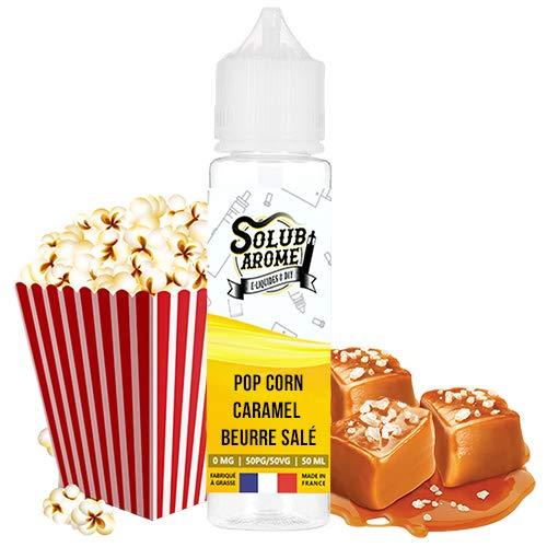 E-liquide Pop corn caramel beurre salé 50ml Solubarome - Sans Tabac et Sans Nicotine