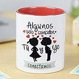 La mente es Maravillosa - Taza con Frase de Amor y Dibujo romántico (Algunos Coinciden, tú y yo conectamos) Regalo para San...