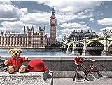 Pintar por número Paisaje de Londres para el hogar Nuevo alojamiento Regalo de boda para adultos Niños Principiantes