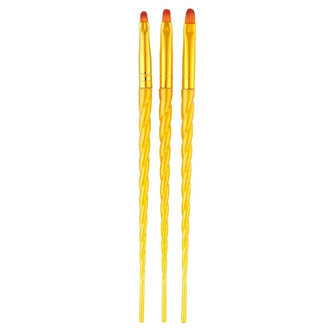 ステップベル変装したTOOGOO 3ピース/セット、ネイルアート、スレッド、アクリルuvジェルの延長ビルダー、絵画ブラシのパターンのデザイン、描画用ペン、マニキュアツール、ゴールデン