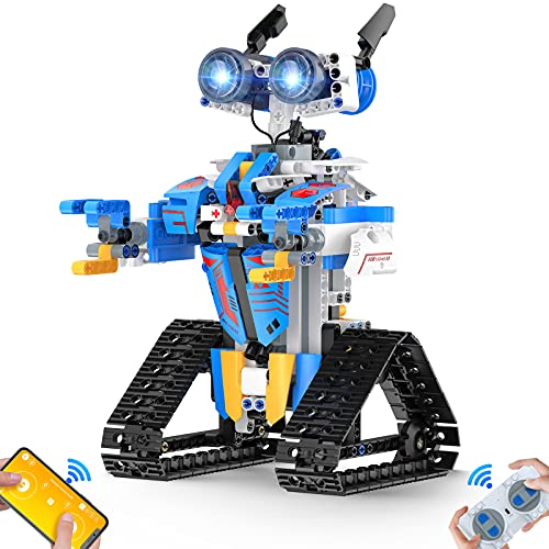 Henoda Robot Toys for 8-16 Year Old Boys Girls, Robot for Kids with APP or Remote Control Science Programmable Building Block Kit, STEM Projects Educational Birthday Gifts for 8-12 Year Old Girls Boys