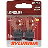 SYLVANIA - 4157NA Long Life Miniature - Amber Bulb, Ideal for Parking, Side Marker, and Turn Signal Applications (Contains 2 Bulbs)