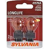 SYLVANIA 3157NA/4157NA Natural Amber Long Life Miniature Bulb, (Contains 2 Bulbs)...