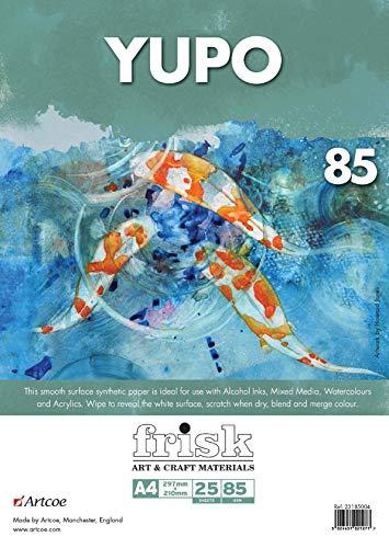 Frisk Yupo Papier A4 Pack 85gsm 25vel, Wit