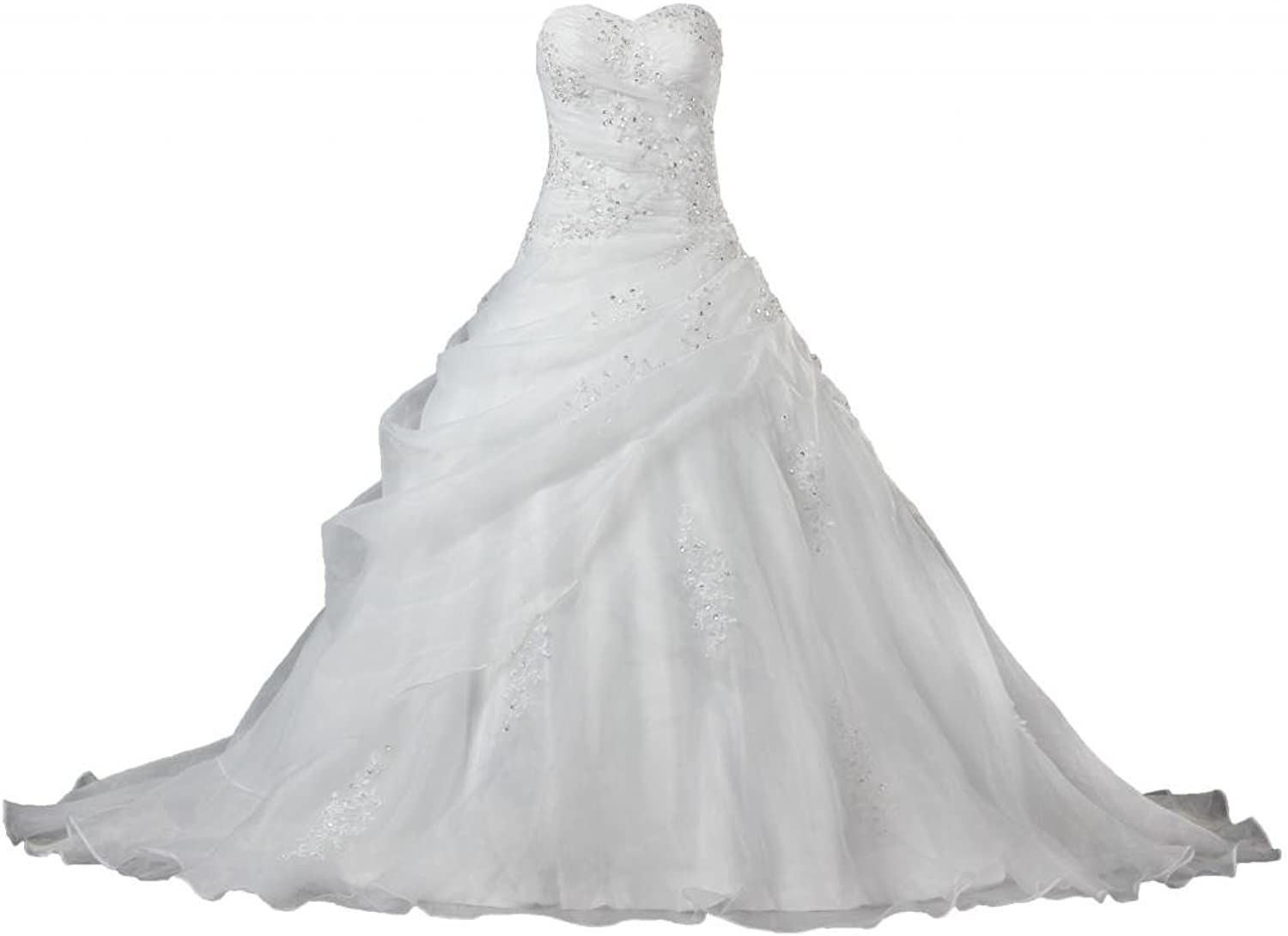 ANTS Off The Shoulder Organza Wedding Dresses with Bead Lace