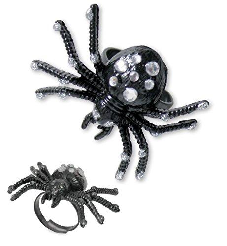 Bague araignée, couleurs assorties, Halloween, Carnaval, Bijou, Bijoux (blanc)