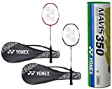 Yonex ZR 100 Light Aluminum Blend Badminton Racquet with Full Cover, Set of
