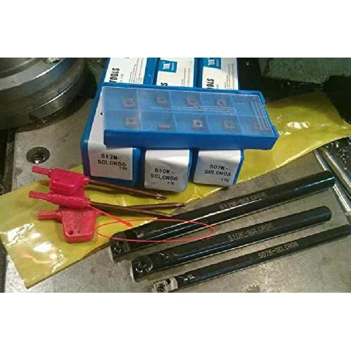 """New 3//8/"""" /& 3//4/"""" Threading Boring Bar Lot With 10 Piece Pack Carbide Inserts"""
