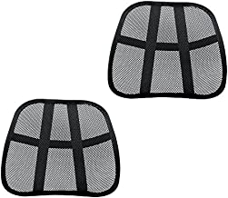 Omni Set of 2 Extra Comfortable Adjustable Breathable Cool Black Mesh Lumbar Back Support Fit All Types Office Chair Car Seat